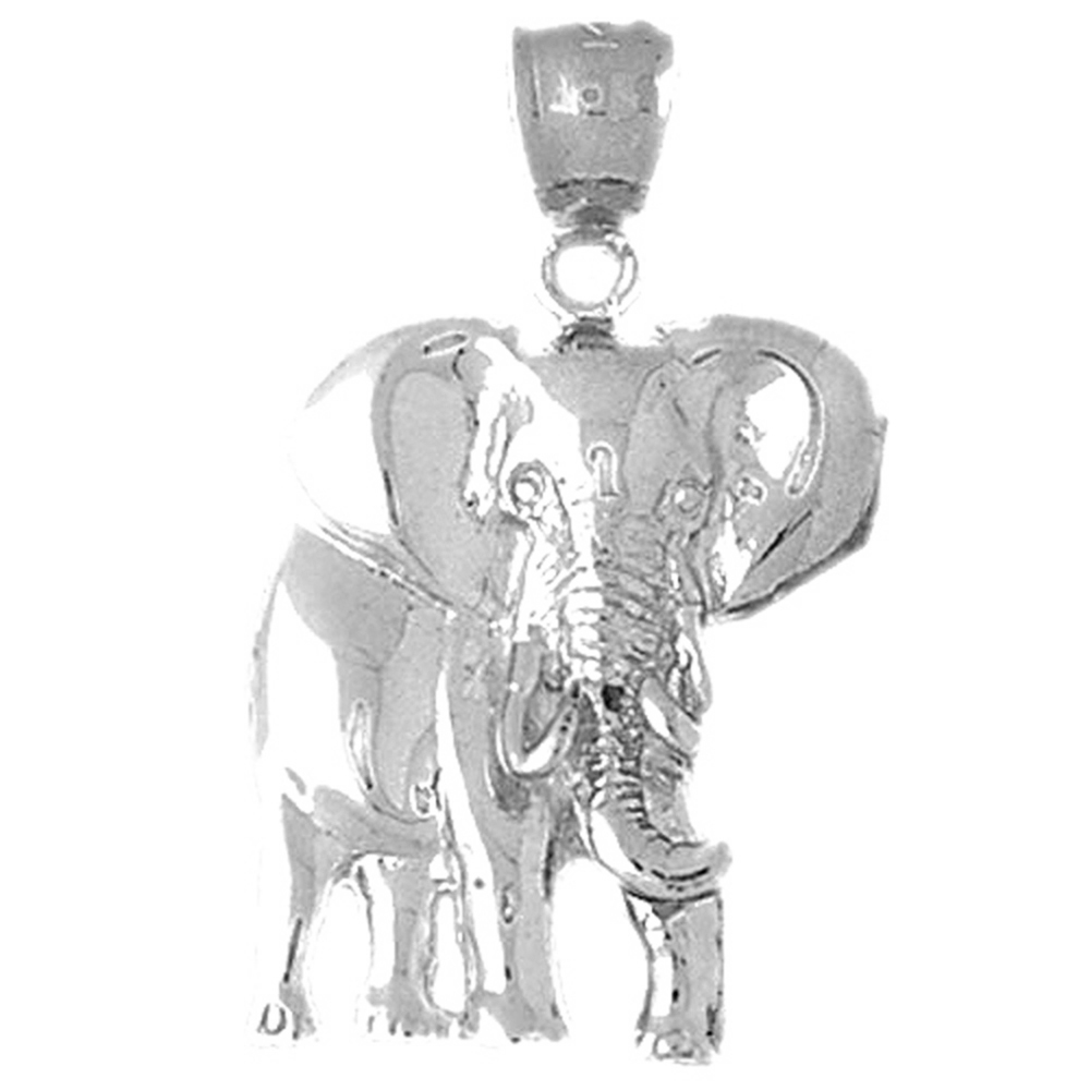 Sterling silver 925 elephant pendant sterling silver pendants at sterling silver elephant pendant rhodium yellow rose or black gold plated aloadofball Image collections