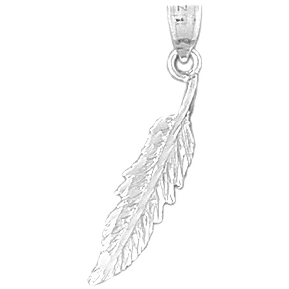 99ad31f0304cd Sterling Silver 925 Feather Pendant | Sterling Silver Pendants at ...