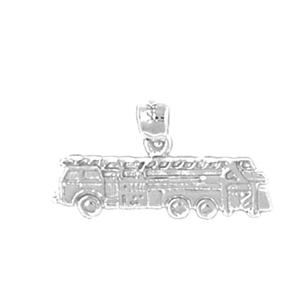 Sterling Silver 925 Fire Truck Pendant   Sterling Silver Pendants at