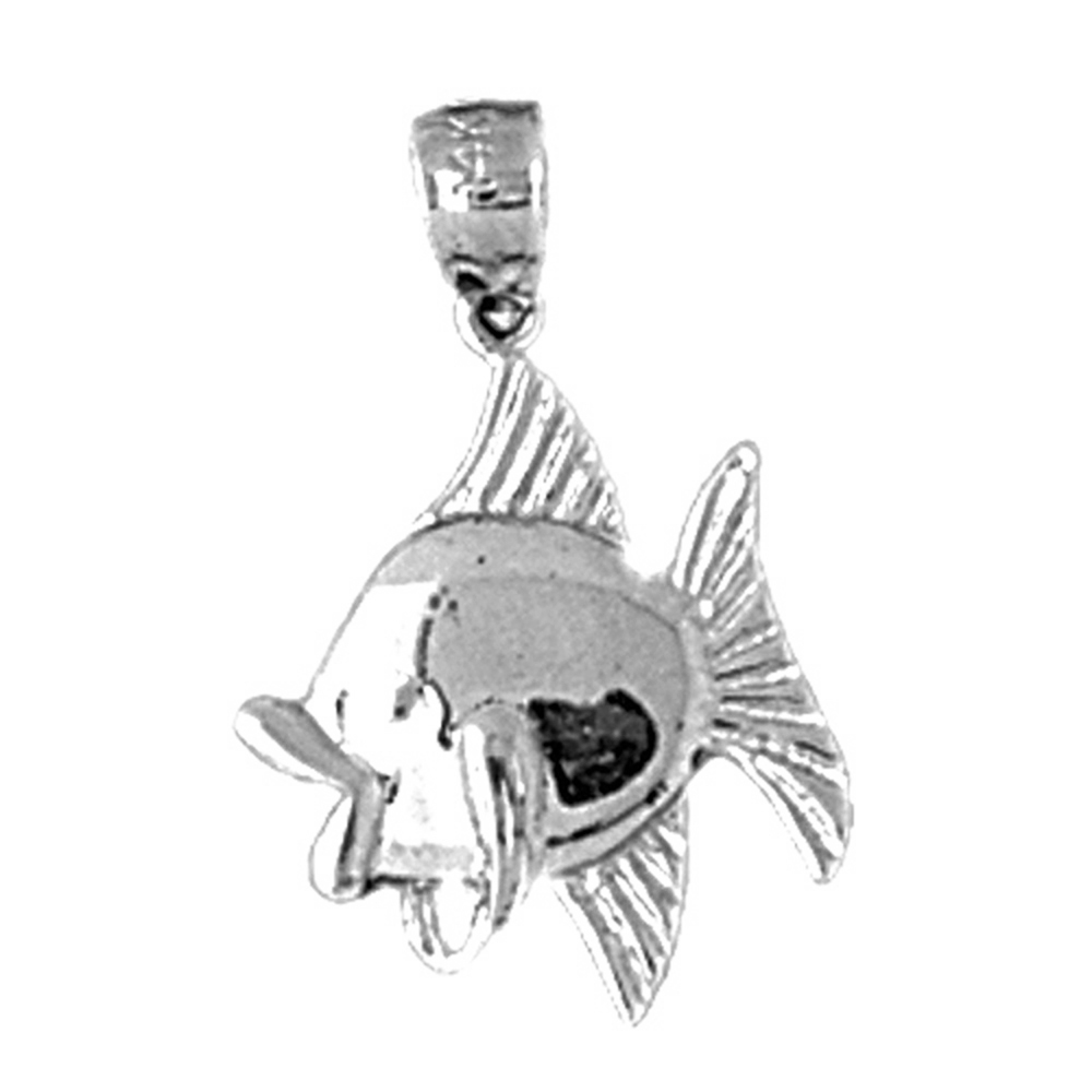 27 mm Jewels Obsession Sand Dollar Pendant Sterling Silver 925 Sand Dollar Pendant