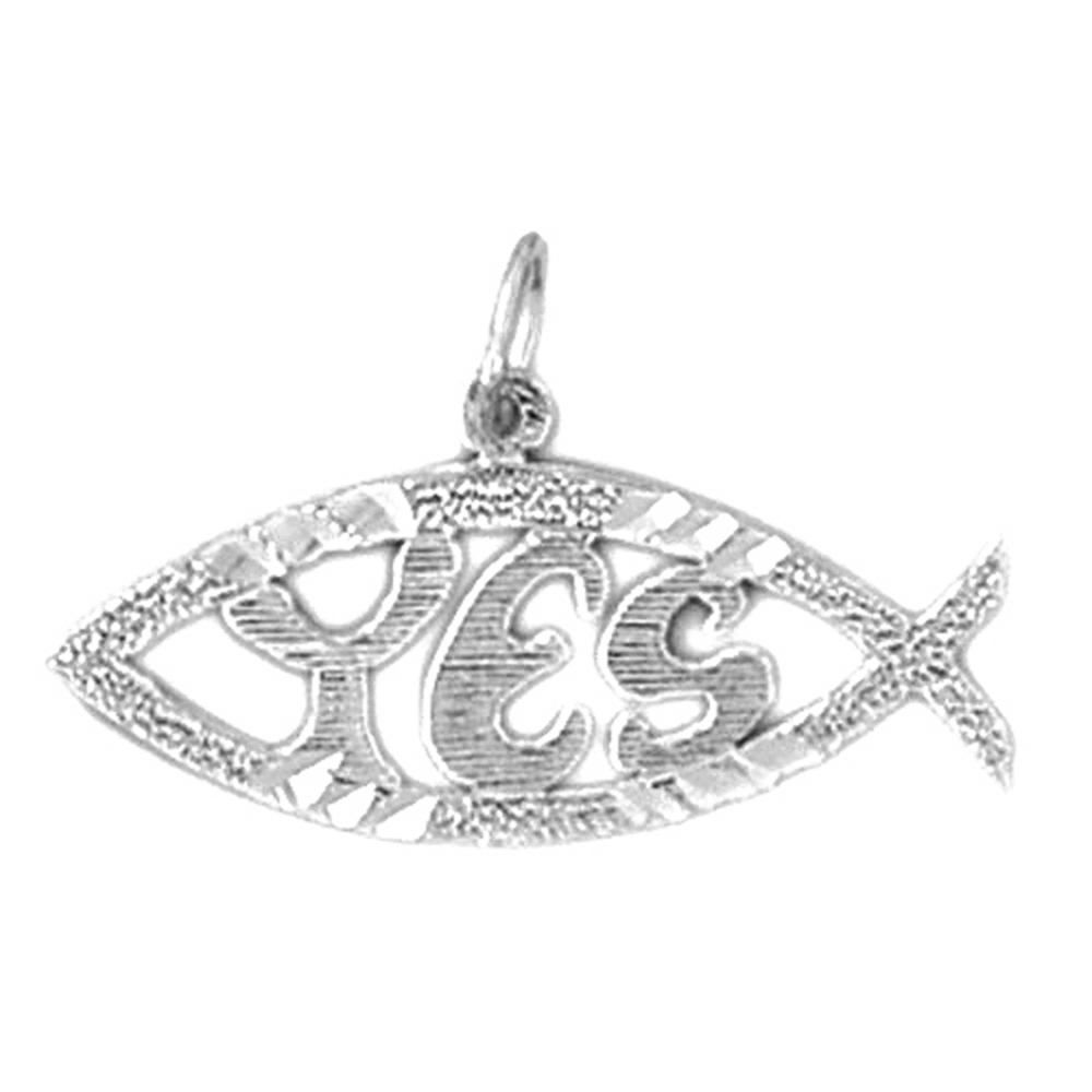 Sterling silver 925 fish pendant sterling silver pendants at sterling silver fish pendant rhodium yellow rose or black gold plated aloadofball Image collections