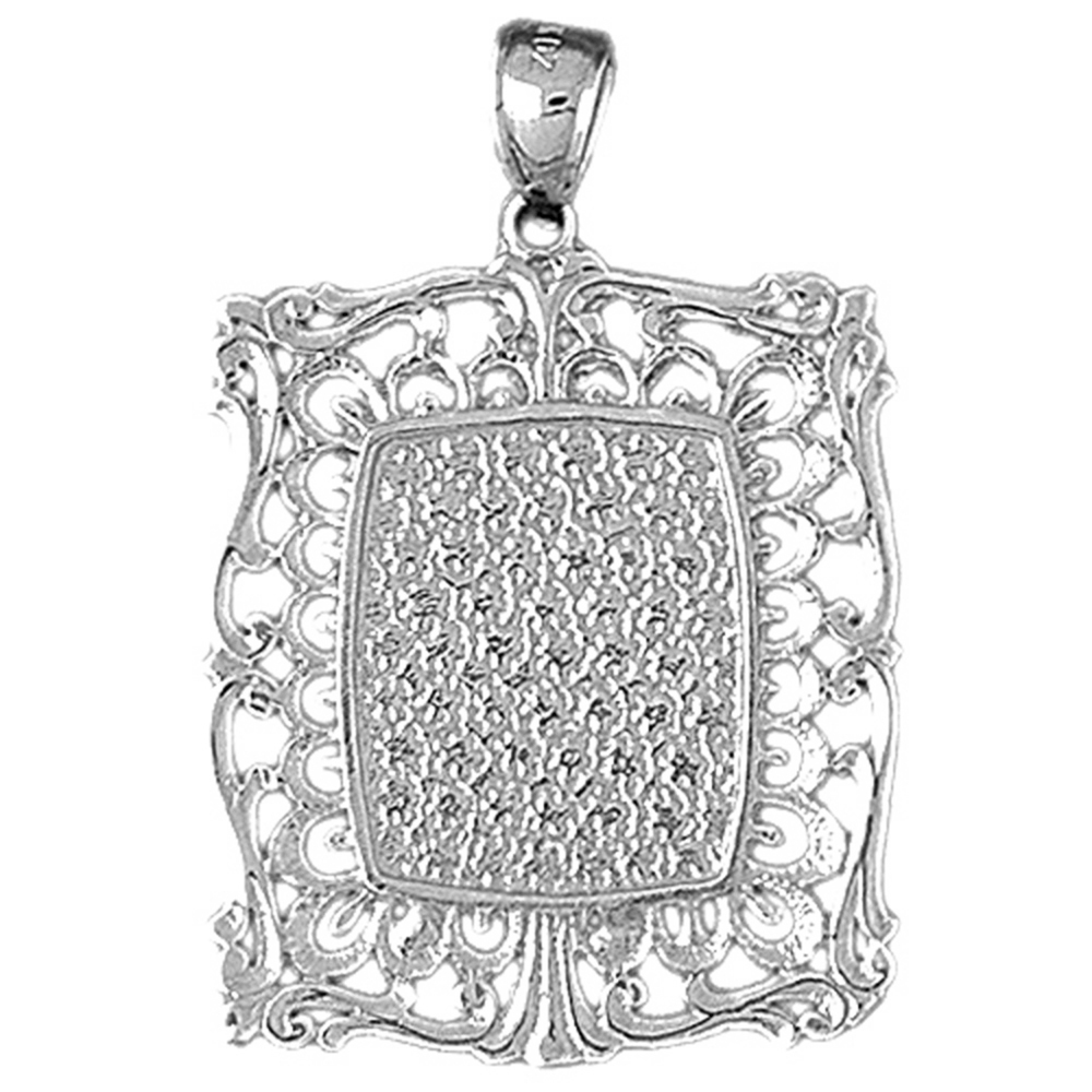 14K Yellow Gold-plated 925 Silver Hand-cut Pendant Jewels Obsession Silver Hand-cut Pendant