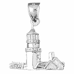 Sterling Silver High Land Light Pendant (Rhodium, Yellow or Rose Gold-plated)