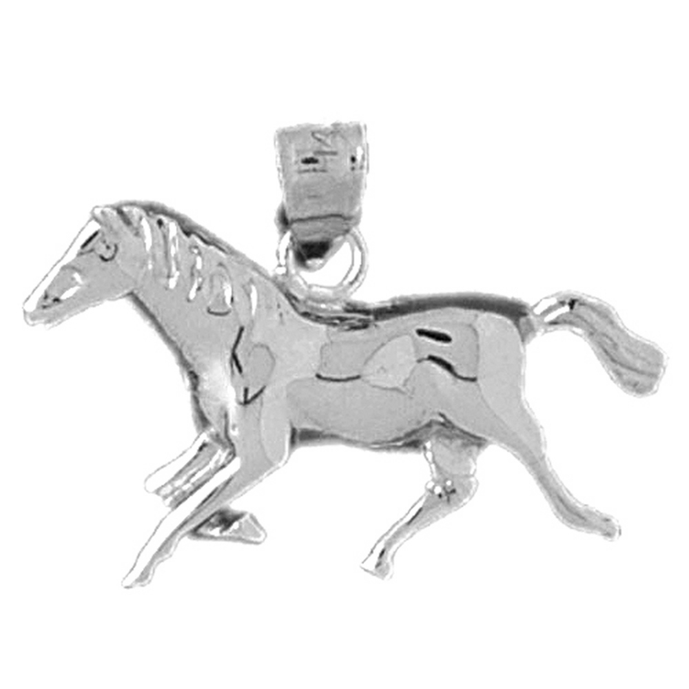 Sterling silver 925 horse pendant sterling silver pendants at sterling silver horse pendant rhodium yellow rose or black gold plated aloadofball Gallery