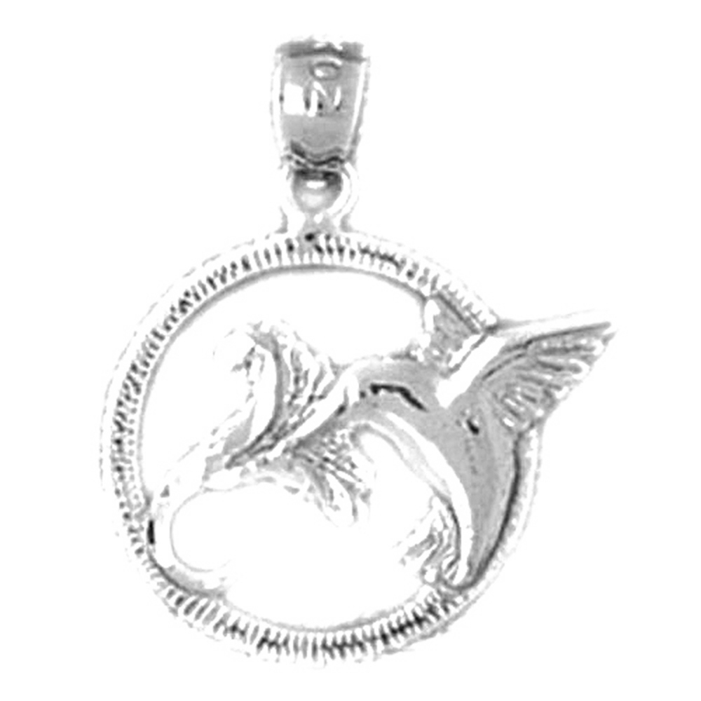 Jewels Obsession Hummingbird Necklace 14K Rose Gold-plated 925 Silver Hummingbird Pendant with 18 Necklace
