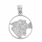 Sterling Silver Jaguar, Cheetah, Leopard Pendant (Rhodium, Yellow or Rose Gold-plated)
