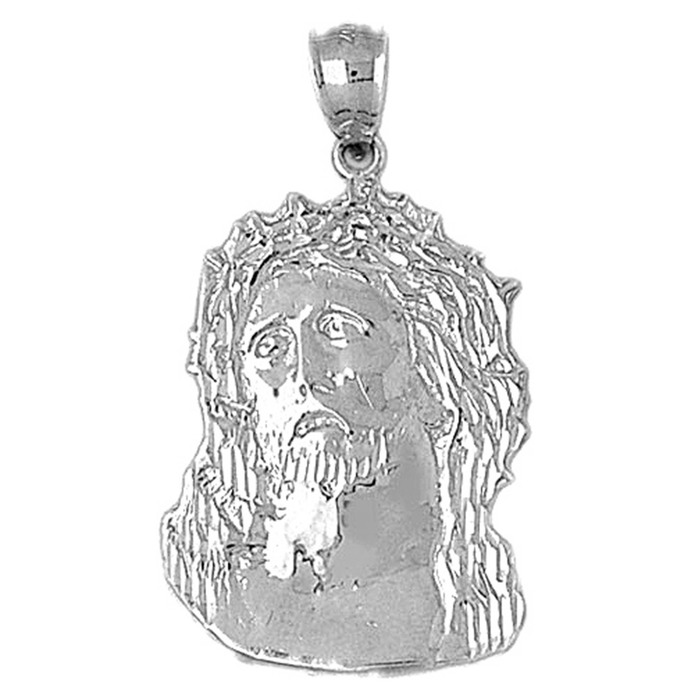 Sterling silver 925 jesus pendant sterling silver pendants at sterling silver jesus pendant rhodium yellow rose or black gold plated aloadofball Image collections