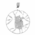 Sterling Silver Koala Pendant (Rhodium, Yellow or Rose Gold-plated)
