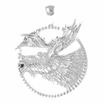 Sterling Silver Moose Pendant (Rhodium, Yellow or Rose Gold-plated)