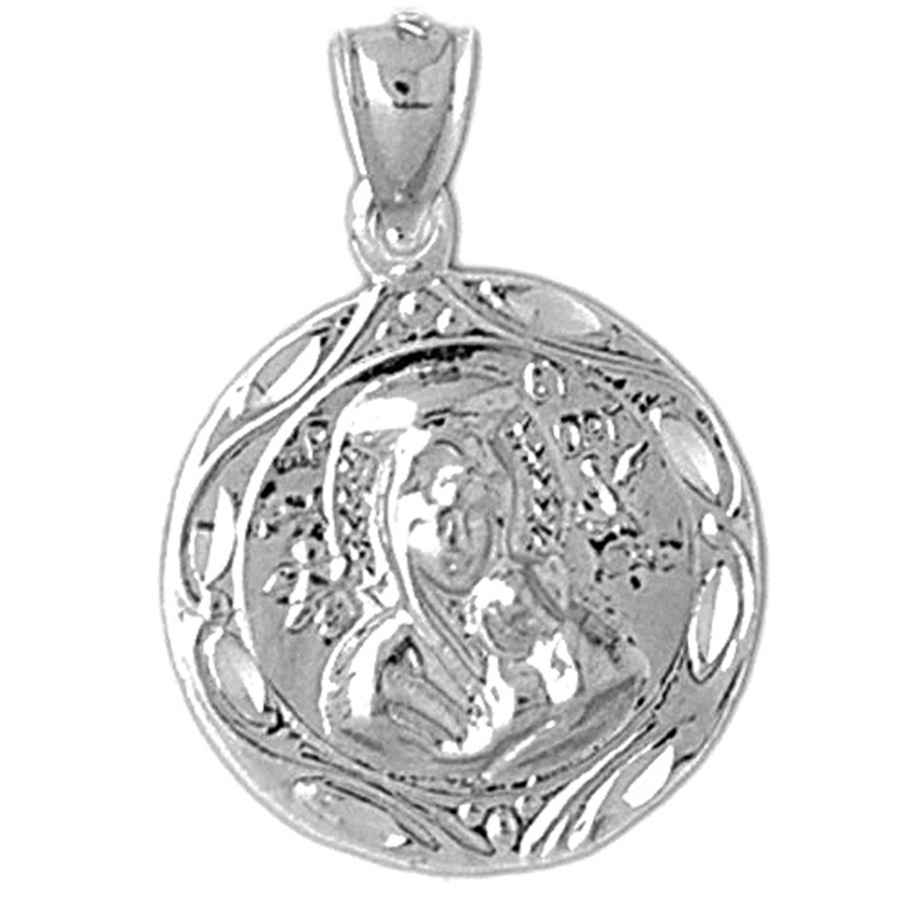 Jewels Obsession Scroll Pendant Sterling Silver 925 Scroll Pendant 39 mm