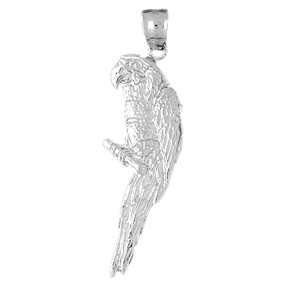 14K Rose Gold-plated 925 Silver Parrot Pendant with 16 Necklace Jewels Obsession Parrot Necklace
