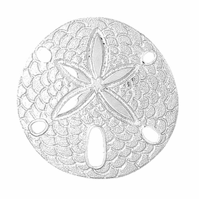 Sterling Silver Sand Dollar Pendant (Rhodium, Yellow or Rose Gold-plated)