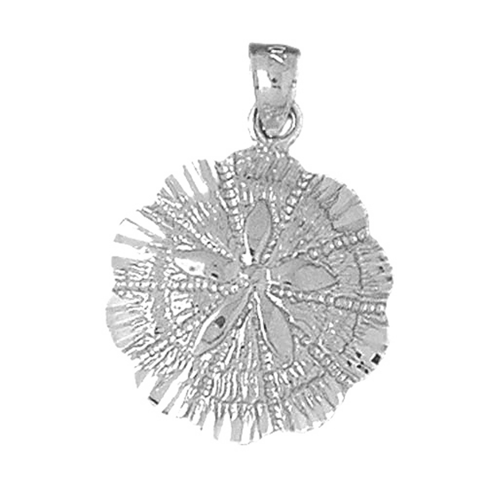14K Yellow Gold-plated 925 Silver Sand Dollar Pendant Jewels Obsession Silver Sand Dollar Pendant