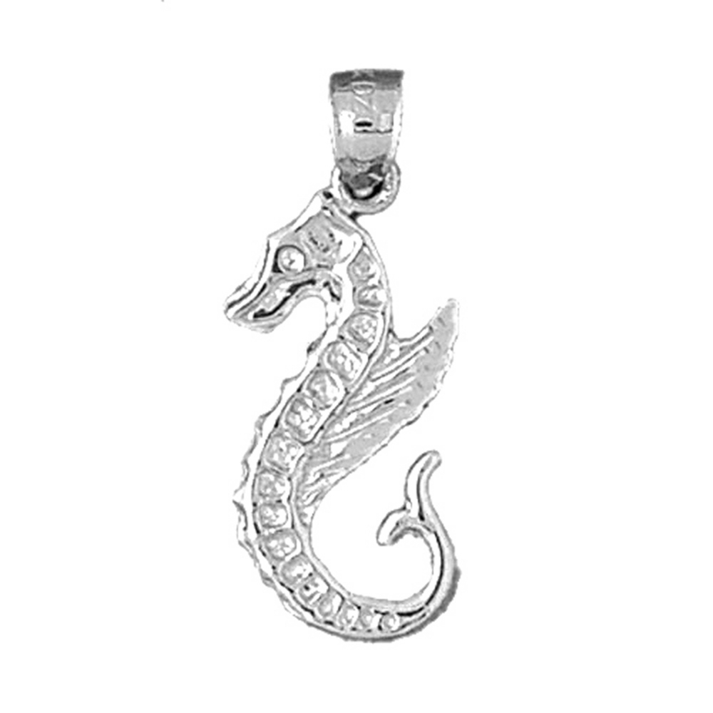 14K Yellow Gold-plated 925 Silver Seahorse Pendant Jewels Obsession Silver Seahorse Pendant