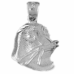 Sterling Silver Seal Pendant (Rhodium, Yellow or Rose Gold-plated)