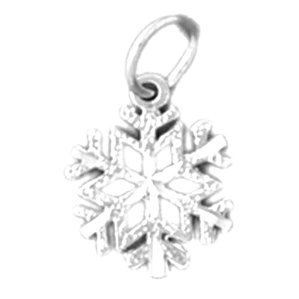 Jewels Obsession Snow Flake Necklace 14K Rose Gold-plated 925 Silver Snow Flake Pendant with 18 Necklace