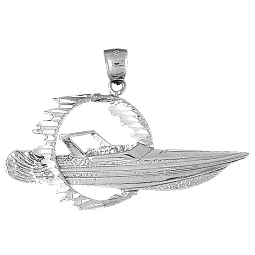 14K Yellow Gold-plated 925 Silver Marlin Pendant with 18 Necklace Jewels Obsession Marlin Necklace
