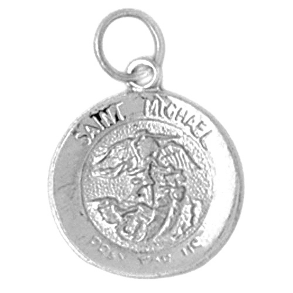 Sterling silver 925 st michael pendant sterling silver pendants sterling silver st michael pendant rhodium yellow rose or black gold plated aloadofball Images