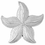 Sterling Silver Starfish Pendant (Rhodium, Yellow or Rose Gold-plated)