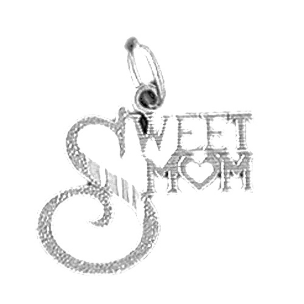 14K Rose Gold-plated 925 Silver Mother Pendant with 16 Necklace Jewels Obsession Mother Necklace