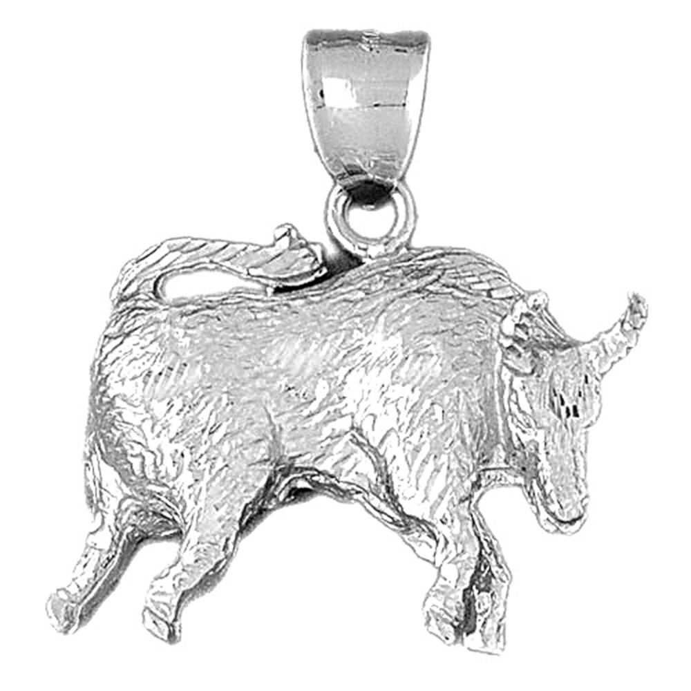Sterling Silver 925 Zodiac Taurus Pendant Sterling