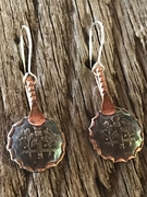 Roosevelt Dime and Copper Earrings