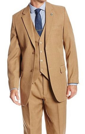 1920s Style Vintage Suit for Men Beige 3 Piece Suny 4016