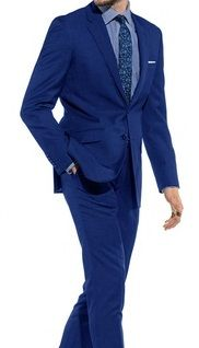 Skinny Fitted Suits Royal Blue Tight Fitting Men's Suit Lucci US-2PP