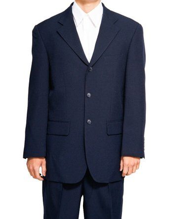 Mens Navy Blue Suit 3 Button Jacket Lucci  3PP