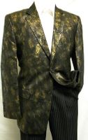 After Midnight Mens Black Gold Pattern Evening Blazer Jacket