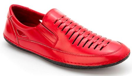 Mens Summer Casual Shoes by Montique Red S18 - click to enlarge