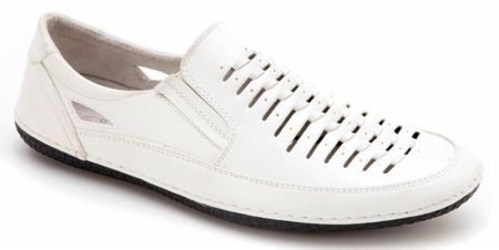 Mens White Summer Casual Shoes by Montique S18 - click to enlarge