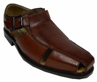 Antonio Cerrelli Mens Cognac Closed Toe Dress Sandals 6555 IS