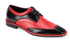Expression Mens Black Red Lizard Print Dress Shoes 6704 Size 10