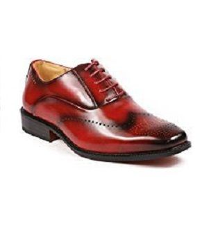 Antonio Mens Italian Style Red Wingtip Dress Shoes 6672