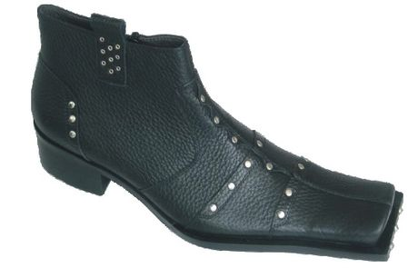 Zota Mens Black High Fashion Studded Boots G4H893-1 - click to enlarge