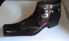 Zota Mens Burgundy Fashion Leather Square Toe Boots G4H893-5