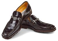 Mauri Shoes Italy Mens Brown Alligator Casual Loafers Spada htm