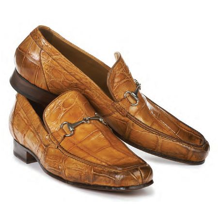 Mauri Chestnut Brown Alligator Casual Loafer Matrix 4894