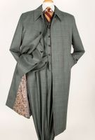 Apollo King All Wool Sage 4pc Coat and Suit Set H