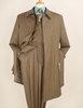 Apollo King All Wool Taupe Stripe 4pc Matching Coat and Suit Set H
