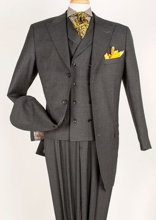 Apollo King Wool Fancy Vest 3 Piece Fashion Suit J-6021 - click to enlarge