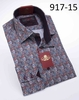 Axxess Shirts High Collar Mens Blue Floral No Tuck Club Shirt 917-15