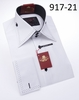 Axxess Shirts High Collar Mens White Black Stitch Club Shirt 917-21 Size M