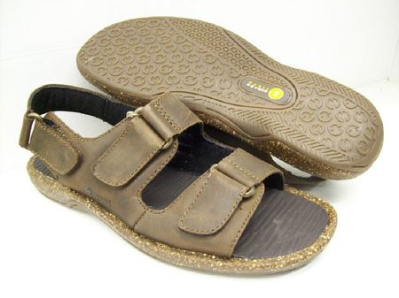 Bass Charter Mens Brown Leather Sandals CHARTERMAH IS - click to enlarge