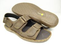 Bass Charter Mens Brown Leather Sandals CHARTERMAH Final Sale