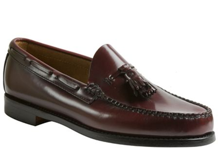 Bass Weejuns Larkin Mens Burgundy Tassle Loafers LARKINBUR - click to enlarge