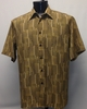 Bassiri Mens Short Sleeve Antique Bronze Microfiber Shirt 49901