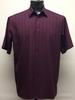Bassiri Mens Short Sleeve Plum Microfiber Shirt 48241