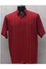 Bassiri Mens Short Sleeve Red Microfiber Shirt 46681
